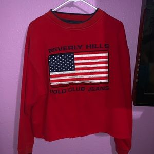 Polo cropped sweater